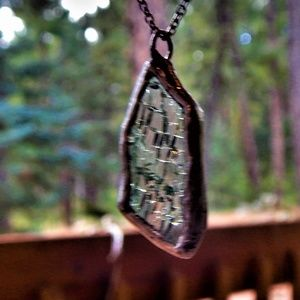 Jewelry - Crushin It~ Glass That Is Necklace